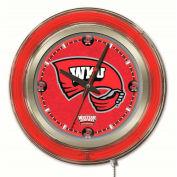 "Western Kentucky University Double Neon Ring 15"" Dia. Logo Clock"