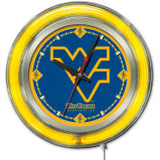"West Virginia University Double Neon Ring 15"" Dia. Logo Clock"