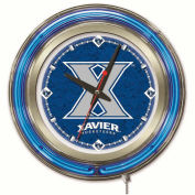 "Xavier Musketeers Double Neon Ring 15"" Dia. Logo Clock"