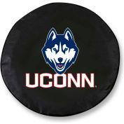 University of Connecticut Black Tire Cover-TCLGCONNUNBK