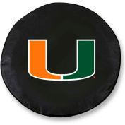 University of Miami FL Black Tire Cover-TCLGMIA-FLBK