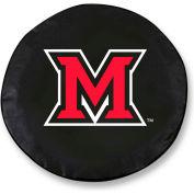 Miami University OH Black Tire Cover-TCLGMIA-OHBK