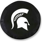 Michigan State University Black Tire Cover-TCLGMICHSTBK