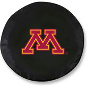 University of Minnesota Black Tire Cover-TCLGMINNUNBK