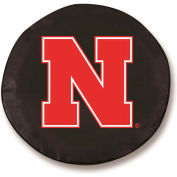 University of Nebraska Black Tire Cover-TCLGNEBRUNBK