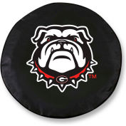 University of Georgia Bulldog Logo Black Tire Cover-TCSMGA-DOGBK