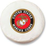 United States Marine Corps White Tire Cover-TCSMMARINEWT