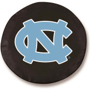 University of North Carolina Black Tire Cover-TCSMNORCARBK