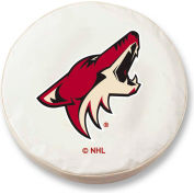 Phoenix Coyotes White Tire Cover-TCSMPHXCOYWT