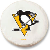 Pittsburgh Penguins White Tire Cover-TCSMPITPENWT