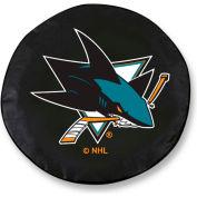 San Jose Sharks Black Tire Cover-TCSMSJSHARBK