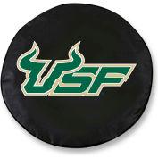 University of South Florida Black Tire Cover-TCSMSOUFLABK