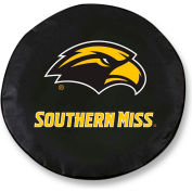 University of Southern Mississippi Black Tire Cover-TCSMSOUMISBK