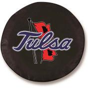 University of Tulsa Black Tire Cover-TCSMTULSAUBK