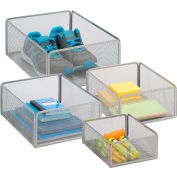 eXcessory Basket Set - 4-Piece - Silver