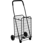 "Medium Multi-Purpose Wheeled Utility Cart 18-5/8""L x 14""W x 37-1/2""H - Black"