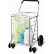 "Dual Front Wheel High-Performance Folding Utility Cart, 24"" L x 21-5/8"" W x 39"" H, 150 Lb Capacity"
