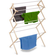 3-Tier Large Knockdown Clothes Drying Rack, Wood, 29-Linear Feet Capacity