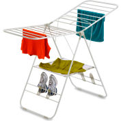 1-Tier Heavy-Duty Gull Wing Clothes Drying Rack, White, Steel, 46-Linear Feet Capacity