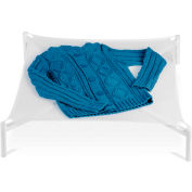 Folding Sweater Clothes Drying Rack, White, Plastic/Nylon Mesh, 26 Square Inch