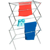 3-Tier Expandable Clothes Drying Rack, Chrome, Steel, 25 Feet Drying Space Capacity