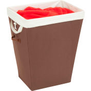 Large Load Laundry Hamper With Removable Liner, Brown, PP/Polycotton