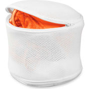 Two-Sided Bra Wash Bags, White, Nylon Mesh, 2 Pack