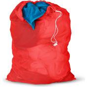 Mesh Laundry Bags, Red, Nylon Mesh, 2 Pack