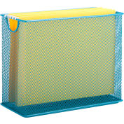 Honey-Can-Do Table Top Steel Mesh File Holder - Blue