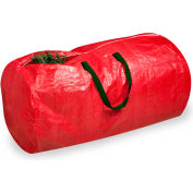 Holiday Tree Storage Bag, Red With Green Handles