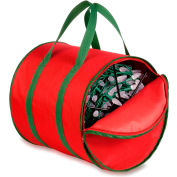 Holiday Light String Storage Reels And Bag, Red/Green Trim