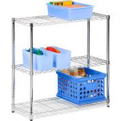 """3 Tier Chrome Storage Shelving Stand, 24""""L x 14""""W x 30""""H"""