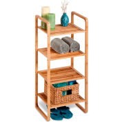 4-Tier Vertical Bamboo Shelf Stand