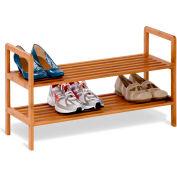 2-Tier Bamboo Shoe Shelf