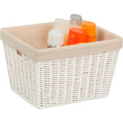 """Paper Rope Storage Tote with Liner - White 12""""L x 10""""W x 8""""H - Pkg Qty 2"""