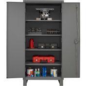 """Global Industrial™ 12 Gauge Heavy Duty 36"""" W x 24"""" D x 78"""" H Cabinet, Gray"""