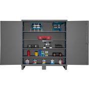 """Global Industrial™ 12 Gauge Heavy Duty 72"""" W x 24"""" D x 78"""" H Cabinet, Gray"""