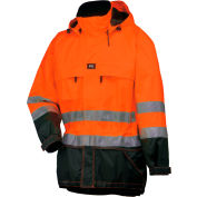 Potsdam Jacket, Orange/Navy - XL