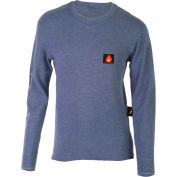 Helly Hansen Fargo FR Crewneck, Blue, XL, 75090-560