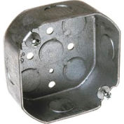 """Hubbell 125 Octagon Box 4"""", 1-1/2"""" Deep, 1/2"""" Side Knockouts - Pkg Qty 50"""