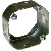 """Hubbell 128 Octagon Extension 4"""", 1-1/2"""" Deep, 1/2"""" Side Knockouts - Pkg Qty 25"""