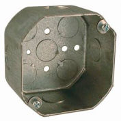 "Hubbell 165 Octagon Box 4"", 2-1/8"" Deep, 1/2"" Side Knockouts - Pkg Qty 50"