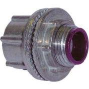 "Hubbell 1705 Conduit Hub 1-1/4"" Trade Size - Zinc - Pkg Qty 10"