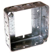 "Hubbell 187 Square Ext 4"", 1-1/2""Deep, 1/2""& 3/4"" Side Knockouts, Attach To Switch Box - Pkg Qty 25"