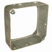 "Hubbell 202 Square Extension 4"", 1-1/2"" Deep, 3/4"" Side Knockouts - Pkg Qty 50"