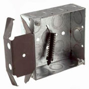 "Hubbell 227 Square Box 4"", 1-1/2""Deep, 1/2""& 3/4"" Side Knockouts, Stud Bracket, Welded - Pkg Qty 25"