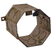 """Hubbell 273 Concrete Ring, 3-1/2"""" Deep, Double Row, 1/2"""" & 3/4"""" Knockouts - Pkg Qty 20"""