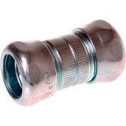 """Hubbell 2923rt Emt Compression Coupling Raintight 3/4"""" Trade Size - Steel - Pkg Qty 125"""