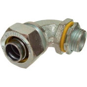 """Hubbell 3421 90 Degree Liquidtight Connector 3/8"""" Trade Size - Pkg Qty 100"""