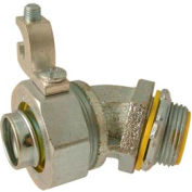 """Hubbell 3561 45 Degree Liquidtight Connector Insulated 3/8"""" Trade Size - Pkg Qty 25"""